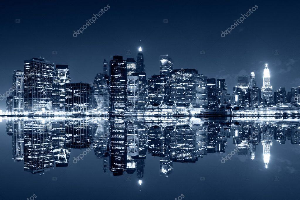 Фотообои Manhattan at night