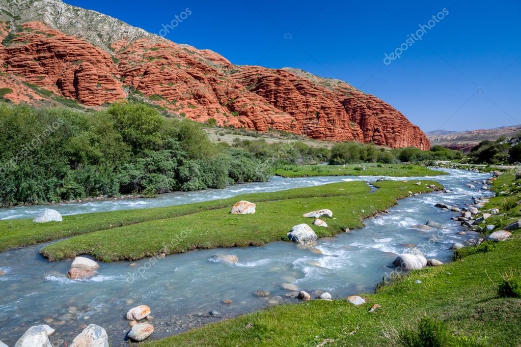 Djuku river in Tien Shan, Kyrgyzstan