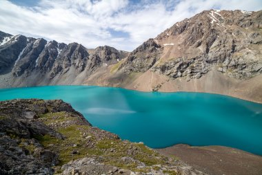 Landscape of Ala-Kul lake in Tien Shan, Kyrgyzstan