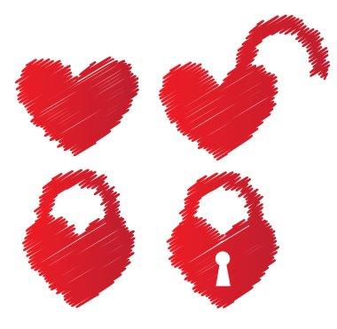heart shaped padlocks