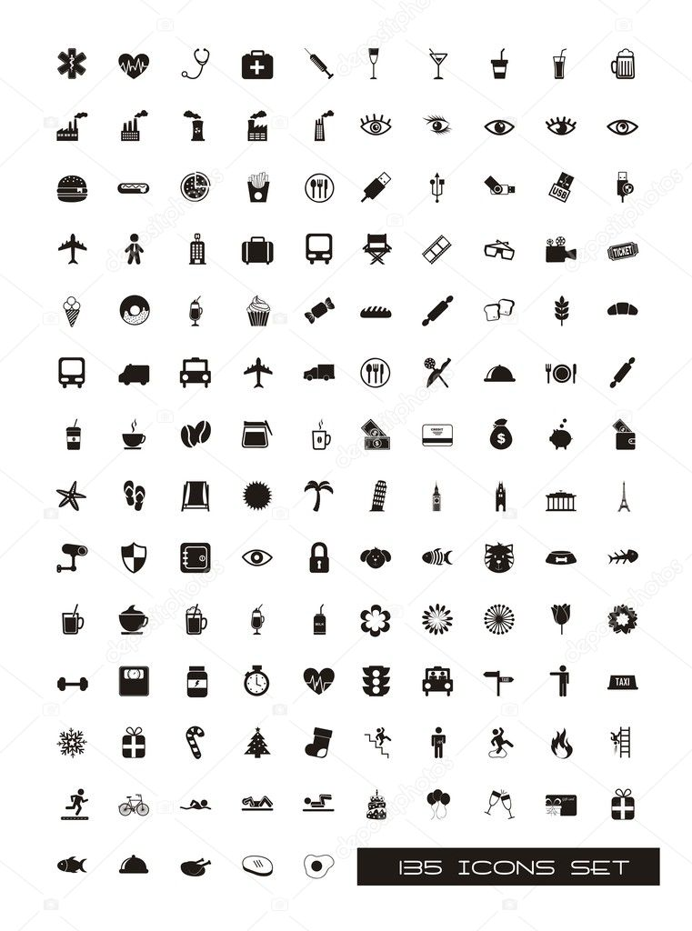 Silhouettes icons