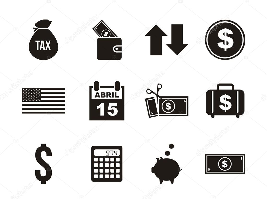 Steuer-Symbole — Stockvektor © yupiramos #22062963