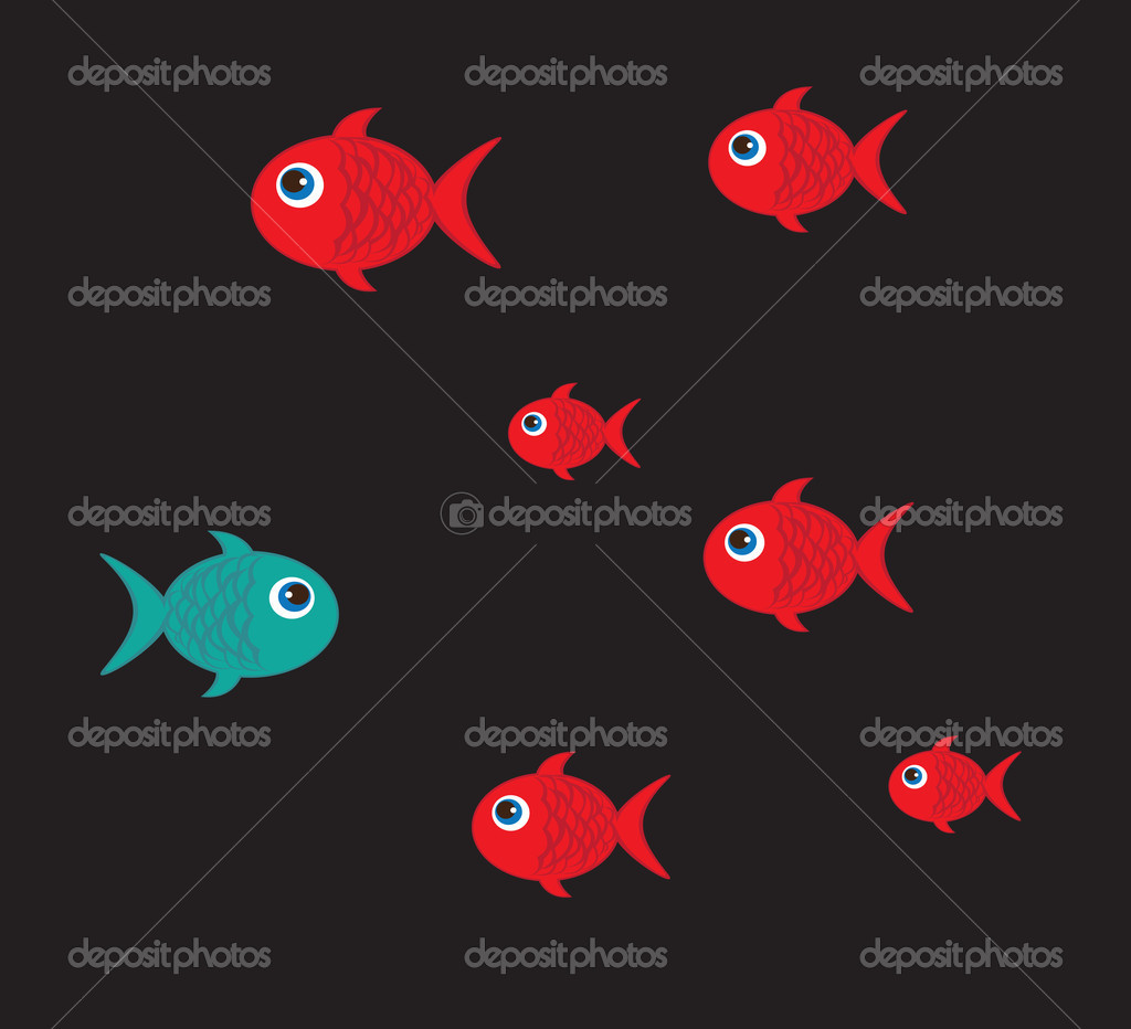 Colors fish — Stock Vector © yupiramos #22297415