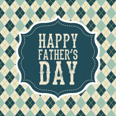 Fathers day card, retro style. vector illustration clip art vector