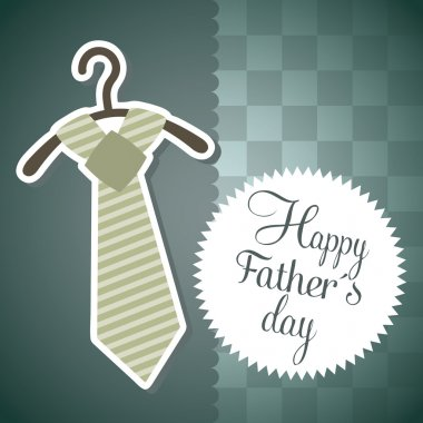 Fathers day card over blue background. vector illustration stock vector