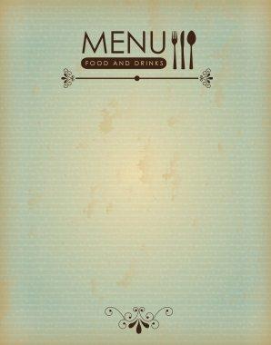 food menu vintage