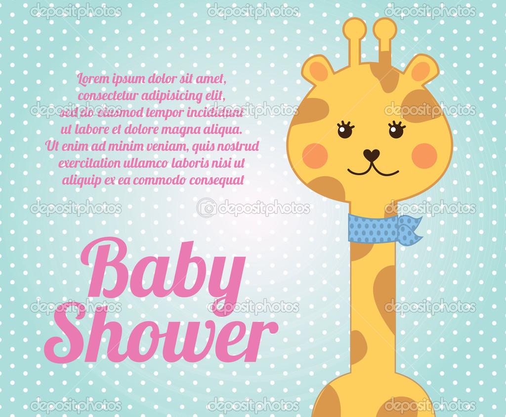 Baby Shower Stock Images ~ Giraffe baby shower — stock vector yupiramos