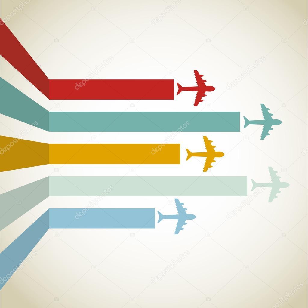 horizontal Aircraft line