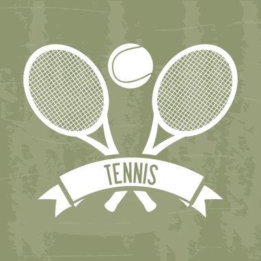 tennis design grunge