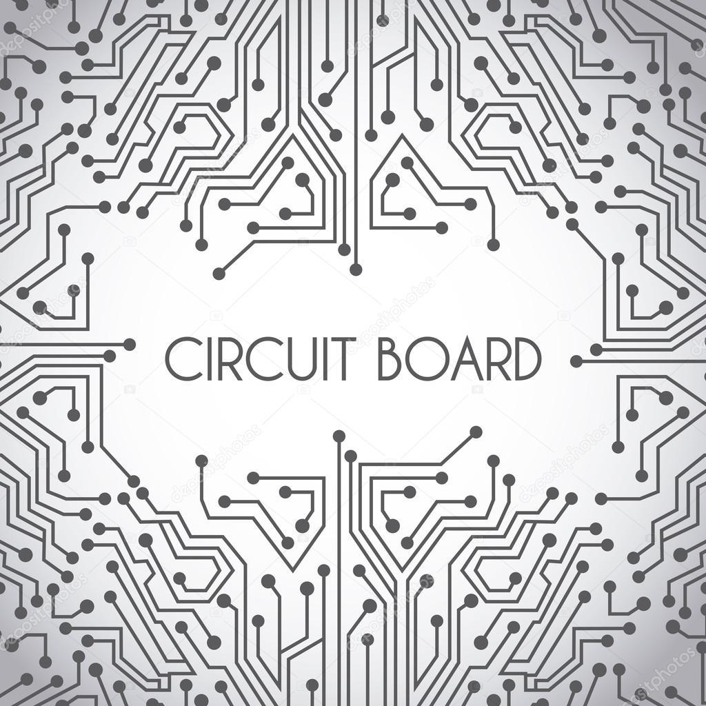 circuit board design — Stock Vector © yupiramos #26109733
