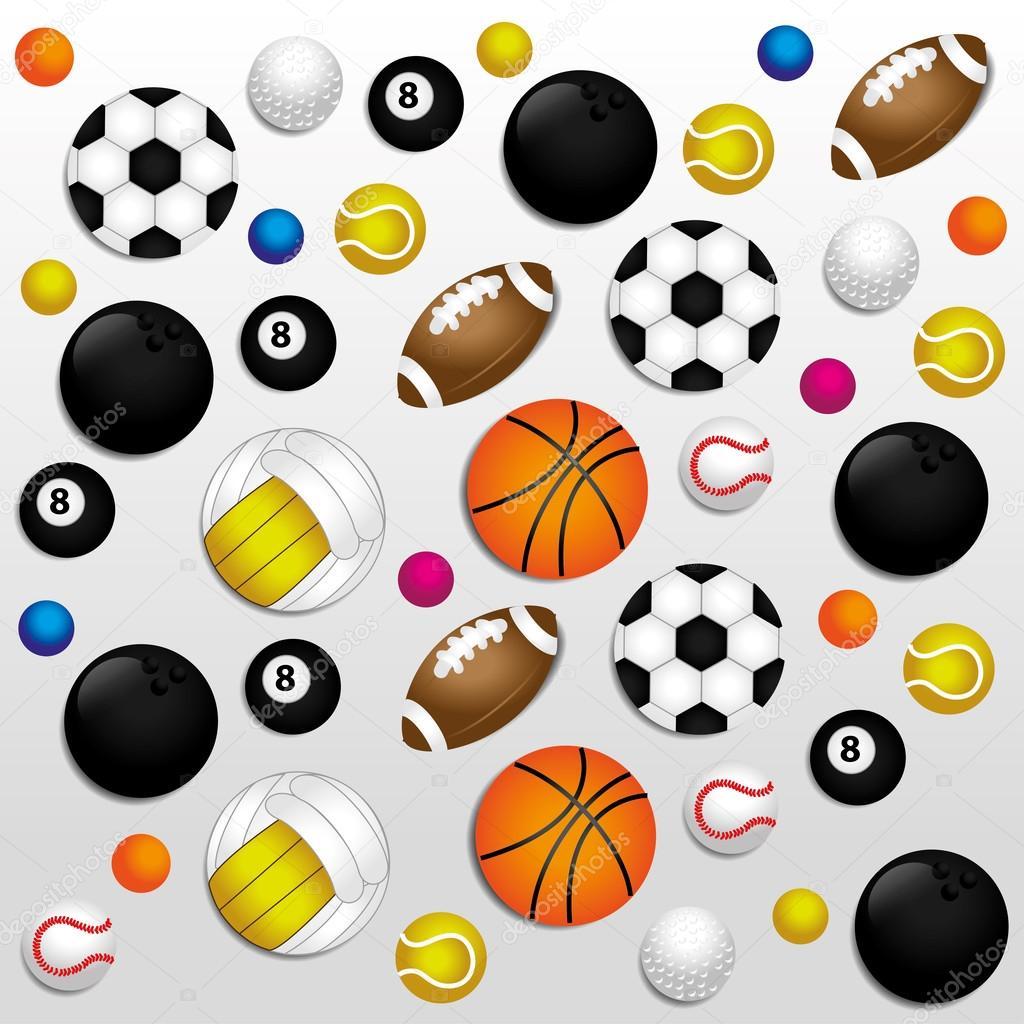 Sports Balls Background Stock Vector