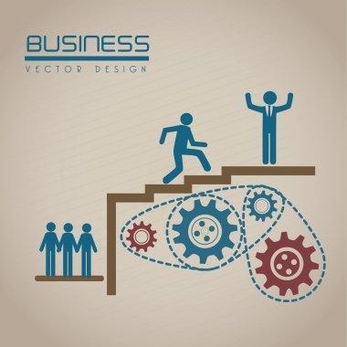 Business design over beige background vector illustration clip art vector