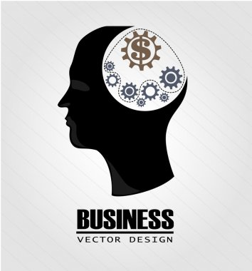 Business think over gray background vector illustration stock vector