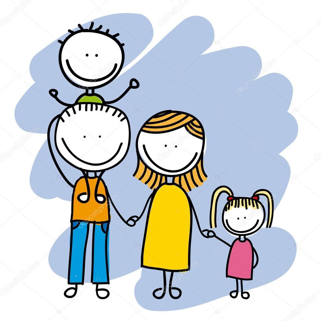 Familie Ontwerp Stockvector Yupiramos 29334275