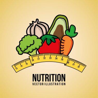 Nutrition design over pink background vector illustration stock vector
