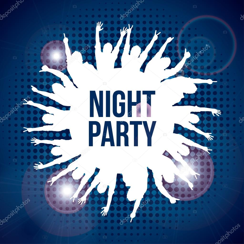 night party — Stock Vector © yupiramos #30604961