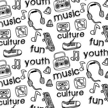 Youth culture design over white background vector illustration stock vector