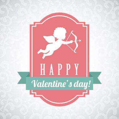 Valentines day over gray background vector illustration clip art vector