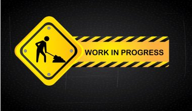 Work in progress over black background vector illustration stock vector