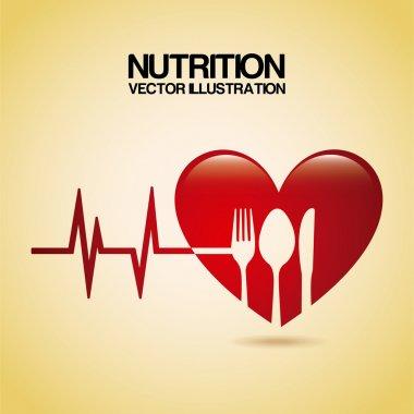 Nutrition design over cream background vector illustration stock vector