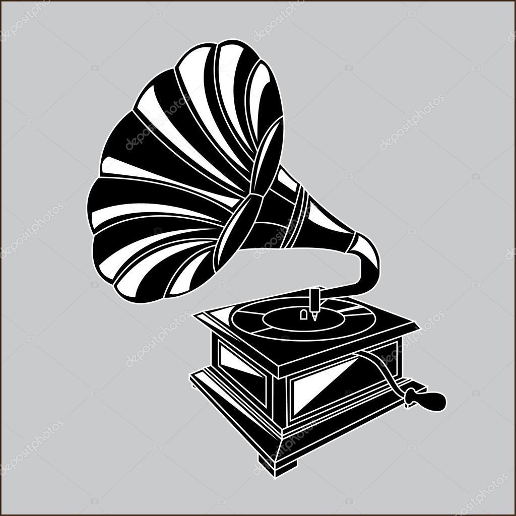 Gramophone — Stock Vector © yupiramos #34767597