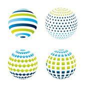 Fotografie barvy míčků
