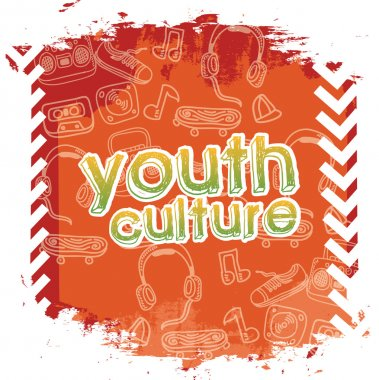 Youth culture over white background vector illustration stock vector