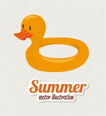 Summer design over gray background vector illustration stock vector