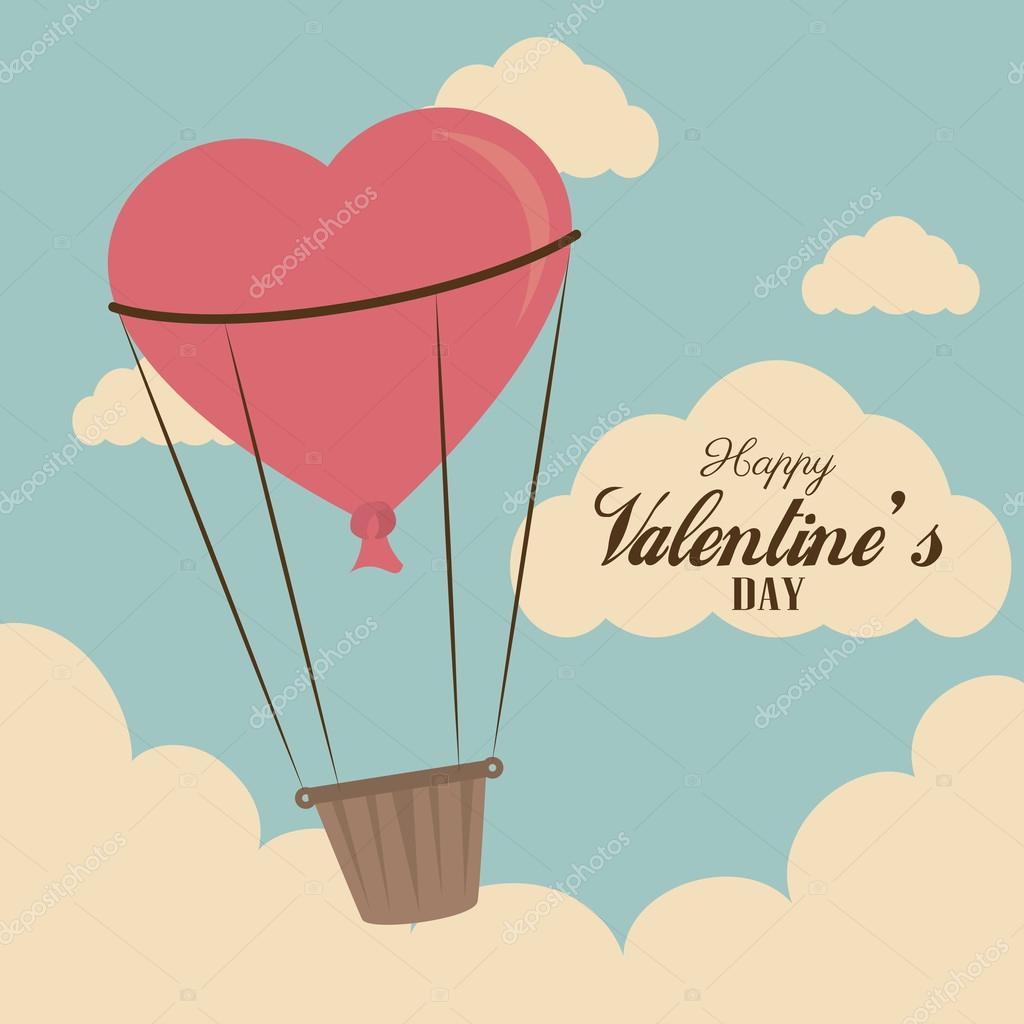 Love design over sky background vector illustration clipart vector