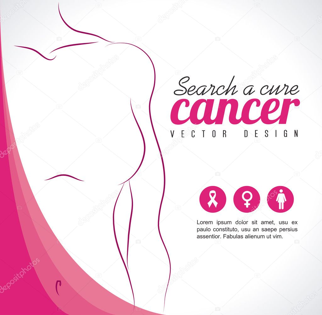 Breast cancer over gray background vector illustration stock vector