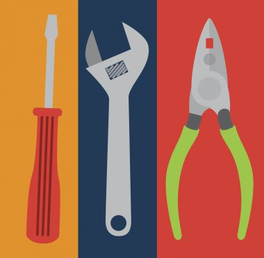 Tools design over colorful background, vector illustration stock vector
