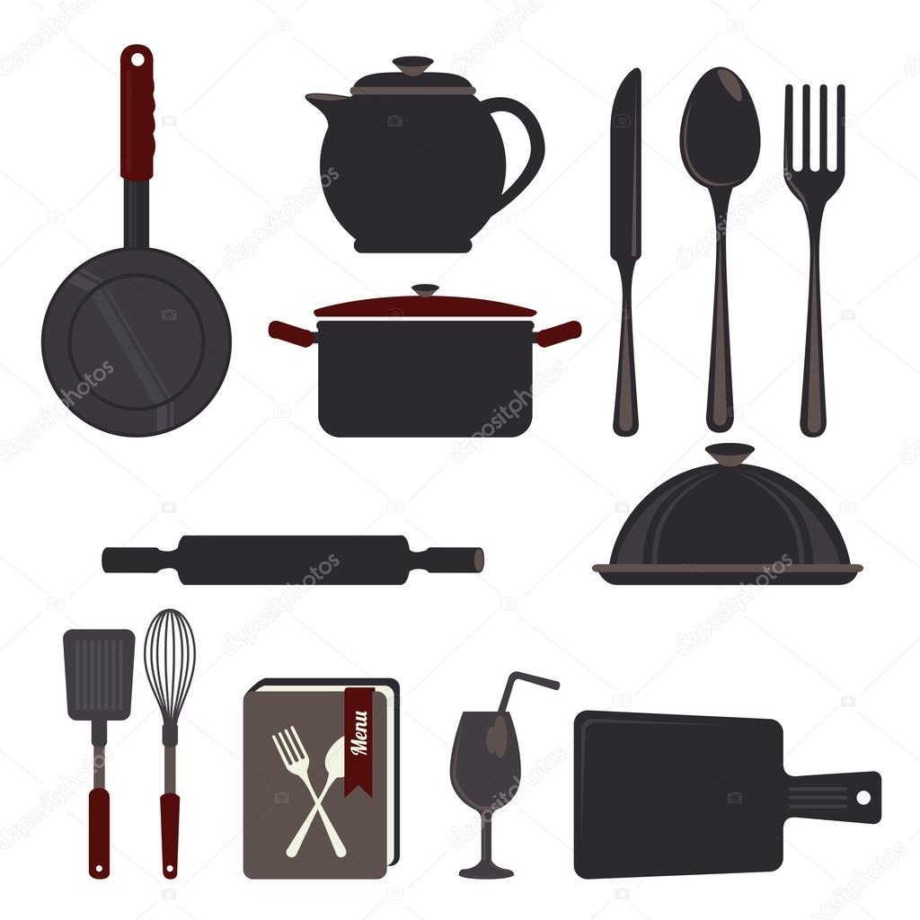Utensili da cucina design — Vettoriali Stock © yupiramos #44316247