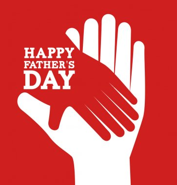 Fathers day design over red background, vector illustration stock vector