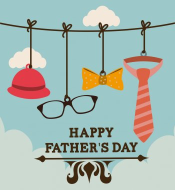 Fathers day design over cloudscape background, vector illustration clip art vector