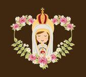 Fotografie Heilige Maria-design
