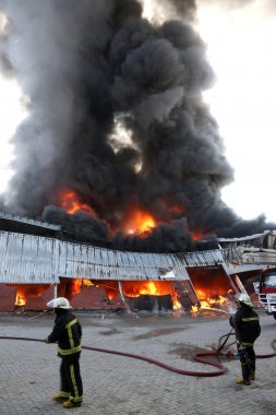 depoda yangın felaketi