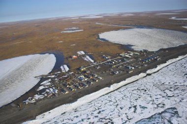 Arctic tundra from air