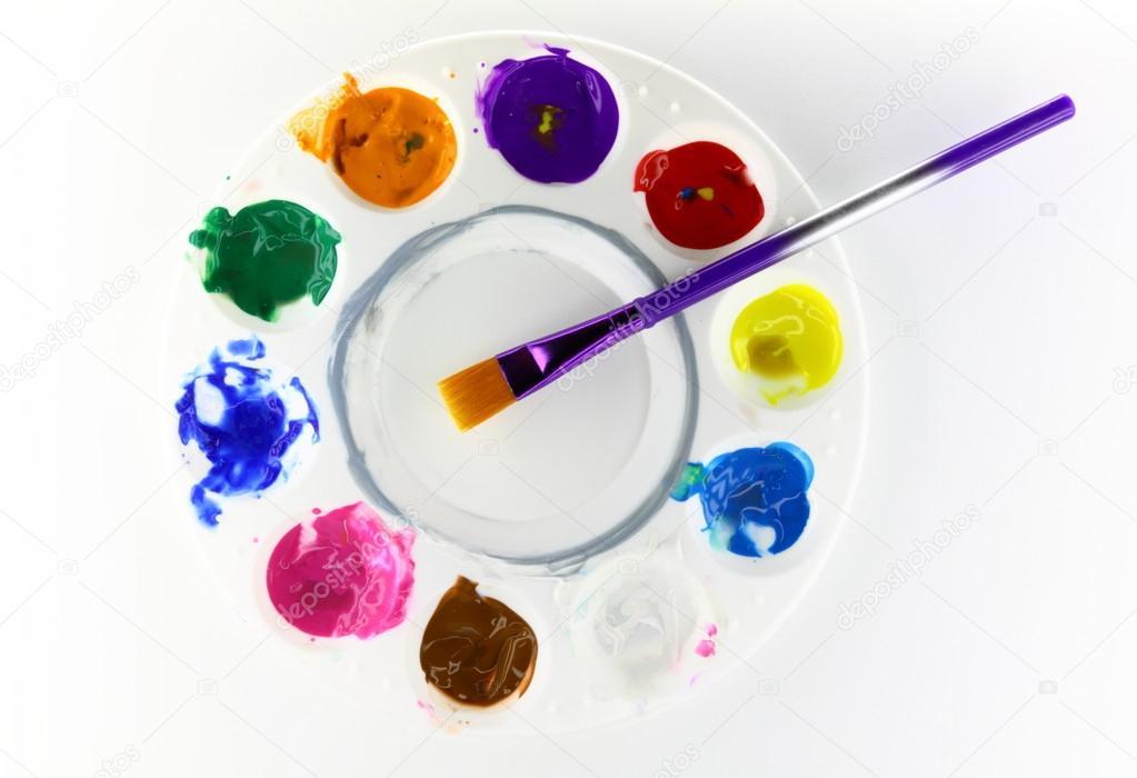 Zhi Jin 1pi/èce Ceramics Artiste Peinture palettes Plateau support Art Fleur trous Peinture Palette pour huile aquarelle Dessin Cadeau de salle de classe 12cm//4.5Inches