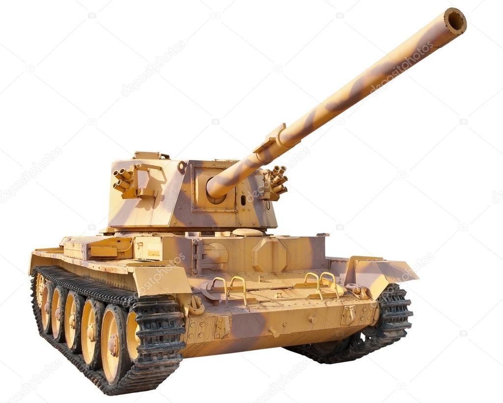 British Medium Tank 1950. Isolation on a white background. stock vector