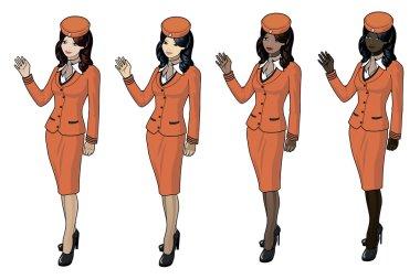 Stewardesses set