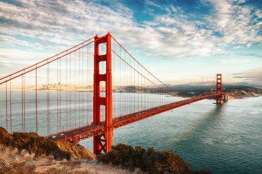 """Картина, постер, плакат, фотообои """"Мост Золотые ворота, Сан-Франциско"""", артикул 24735951"""