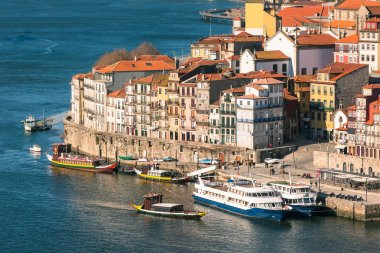 Overview of Old Town of Porto, Portugal