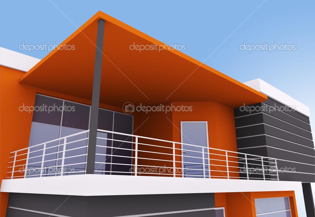 Buitenkant van moderne huis u stockfoto scovad