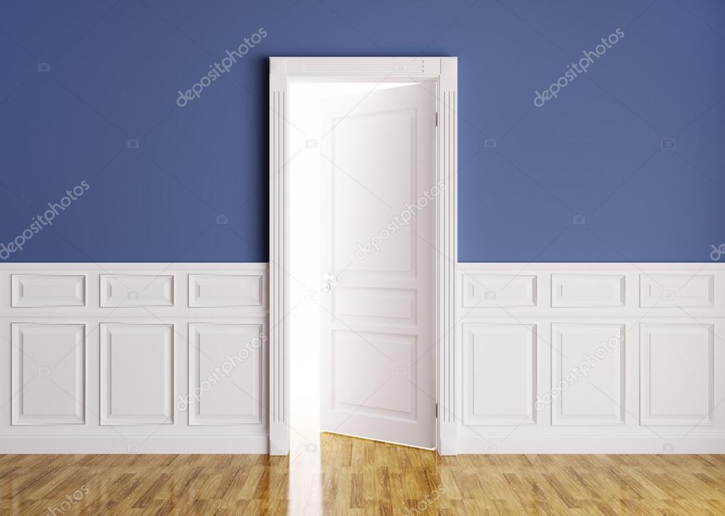 Int rieur classique avec porte ouverte photo 38305325 for Porte classique interieur