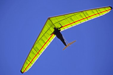 Hang gliding in Crimea taken in summer, Ukraine