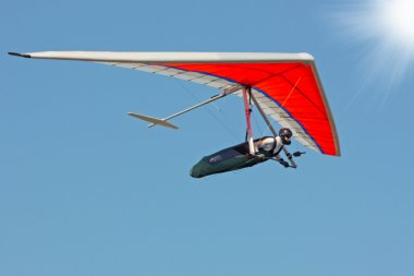Hang gliding iin Crimea