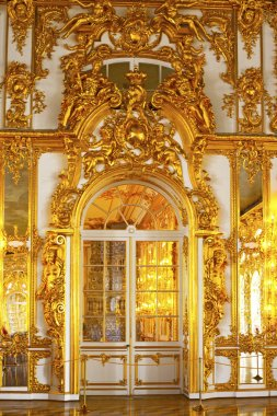 ST.PETERSBURG, RUSSIA - JUNE 24: Interior of Catherine Palace in August 2, 2012 in St.Petersburg, Russia. The former imperial palace. Building is laid in 1717 on orders of Catherine I. Now a museum