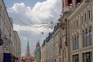 Kremlin wall, Kremlin and Historical museum and streets of Moscow
