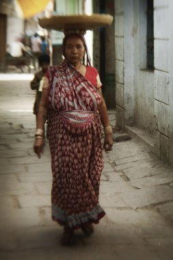 Woman in streets of Varanasi