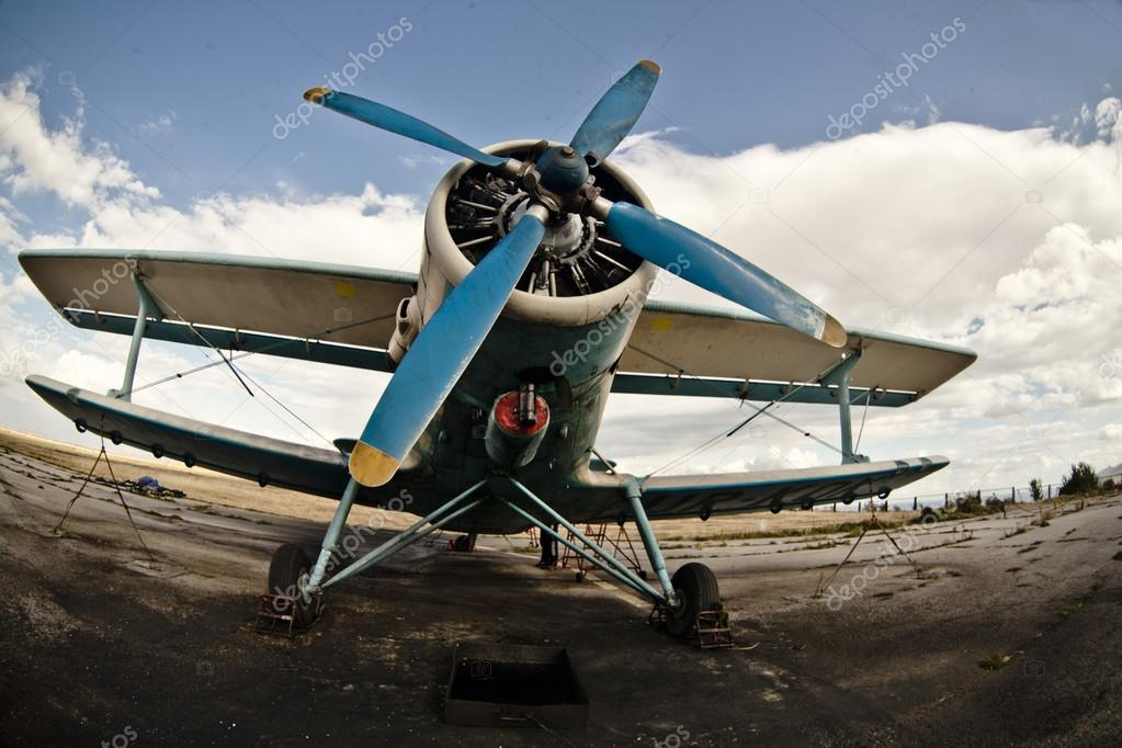 Vintage Airplane Stock Photo